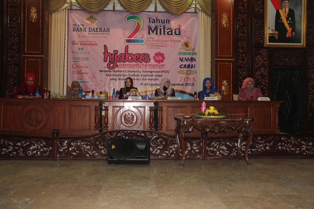 Hayyana di Milad Hijabers Comunity Karanganyar